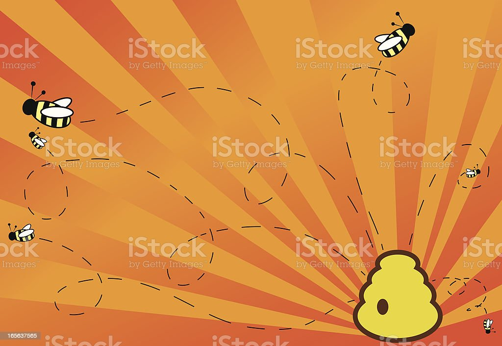 Super Hero Bees! royalty-free stock vector art