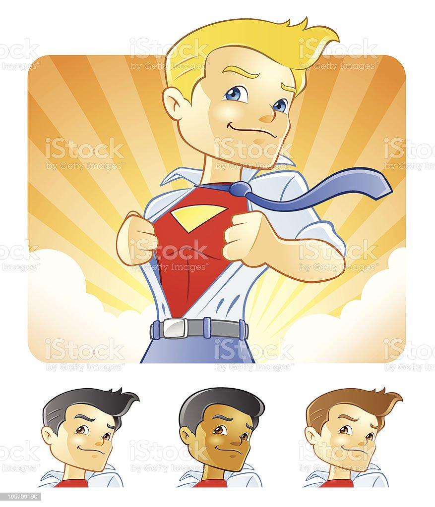 Super Hero Businessman to the Rescue vector art illustration