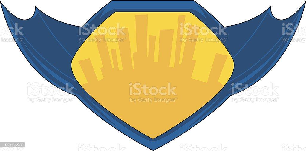 Super Hero Graphic royalty-free stock vector art