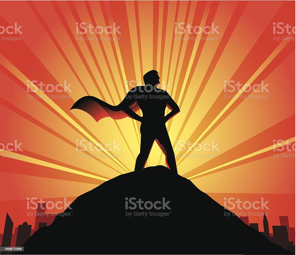 Super Hero - Male vector art illustration