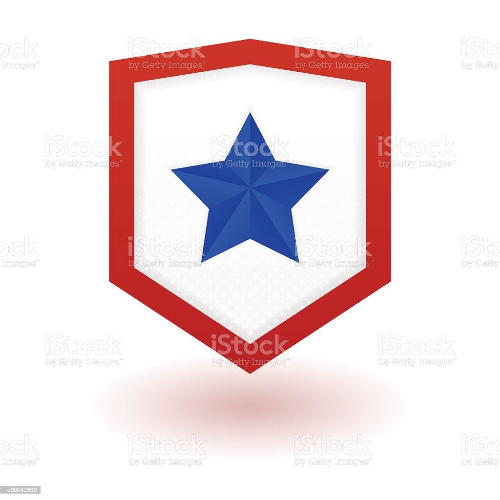 Super hero shield vector art illustration