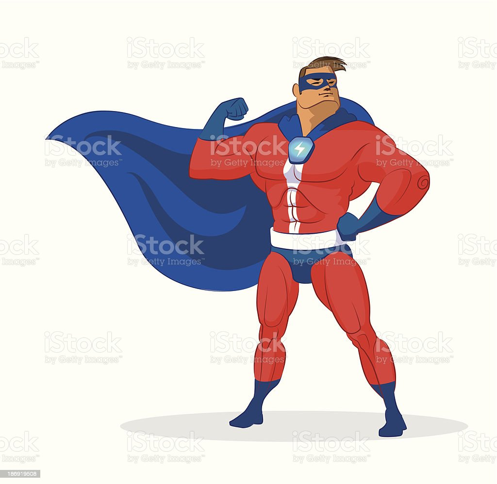 Super hero royalty-free stock vector art