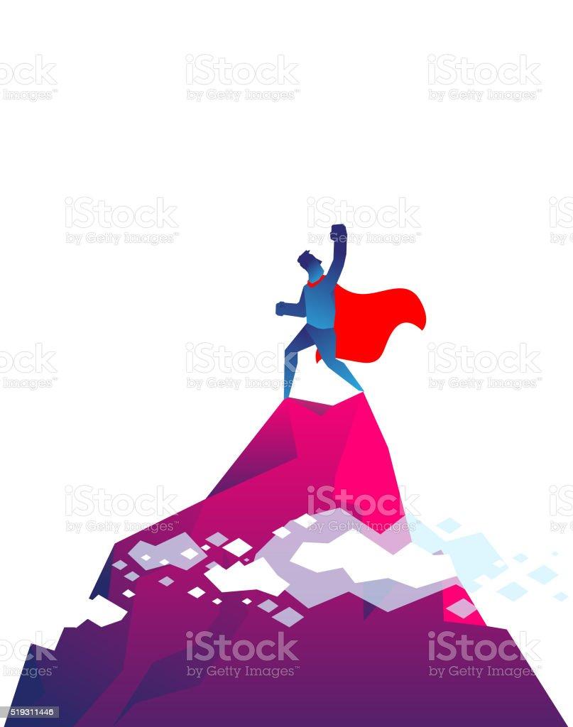 Super hero vector art illustration