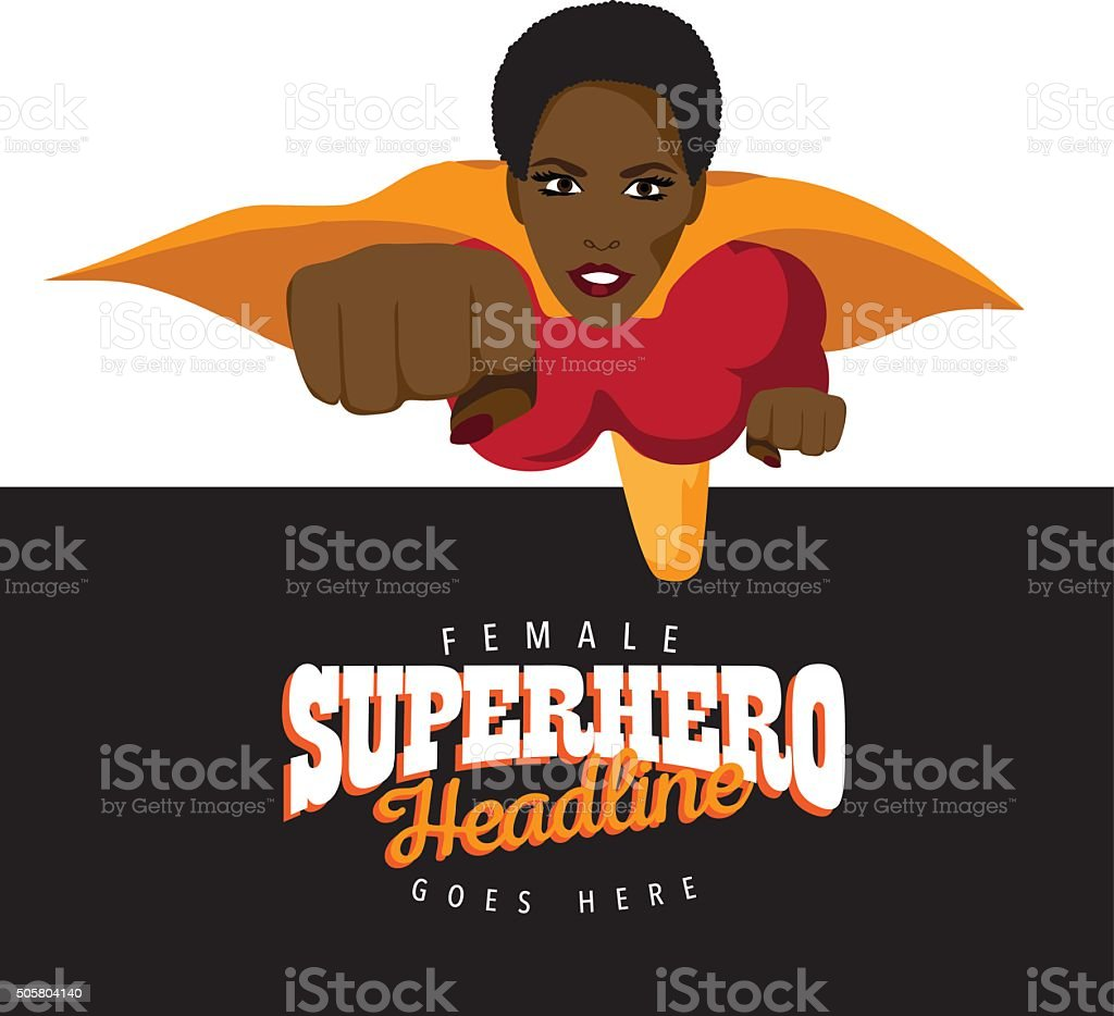 Super hero woman background vector art illustration