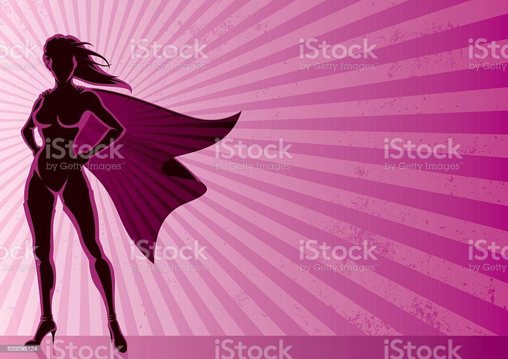 Super Heroine Background vector art illustration