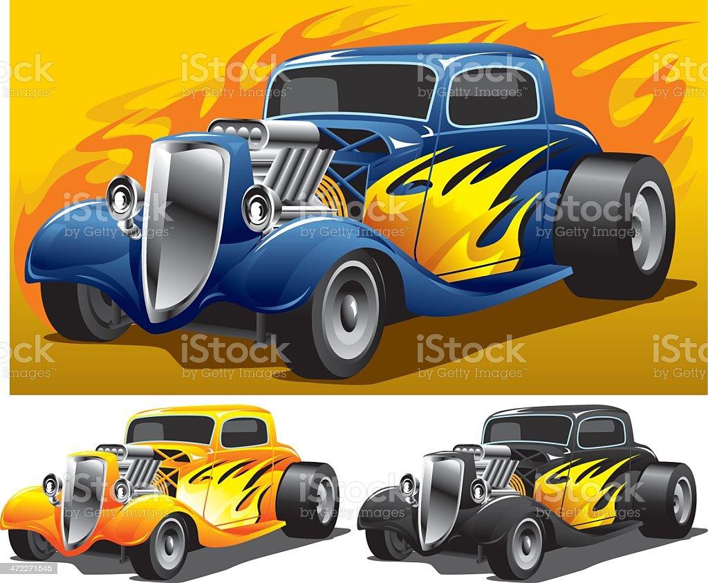 Super Hot Rod vector art illustration
