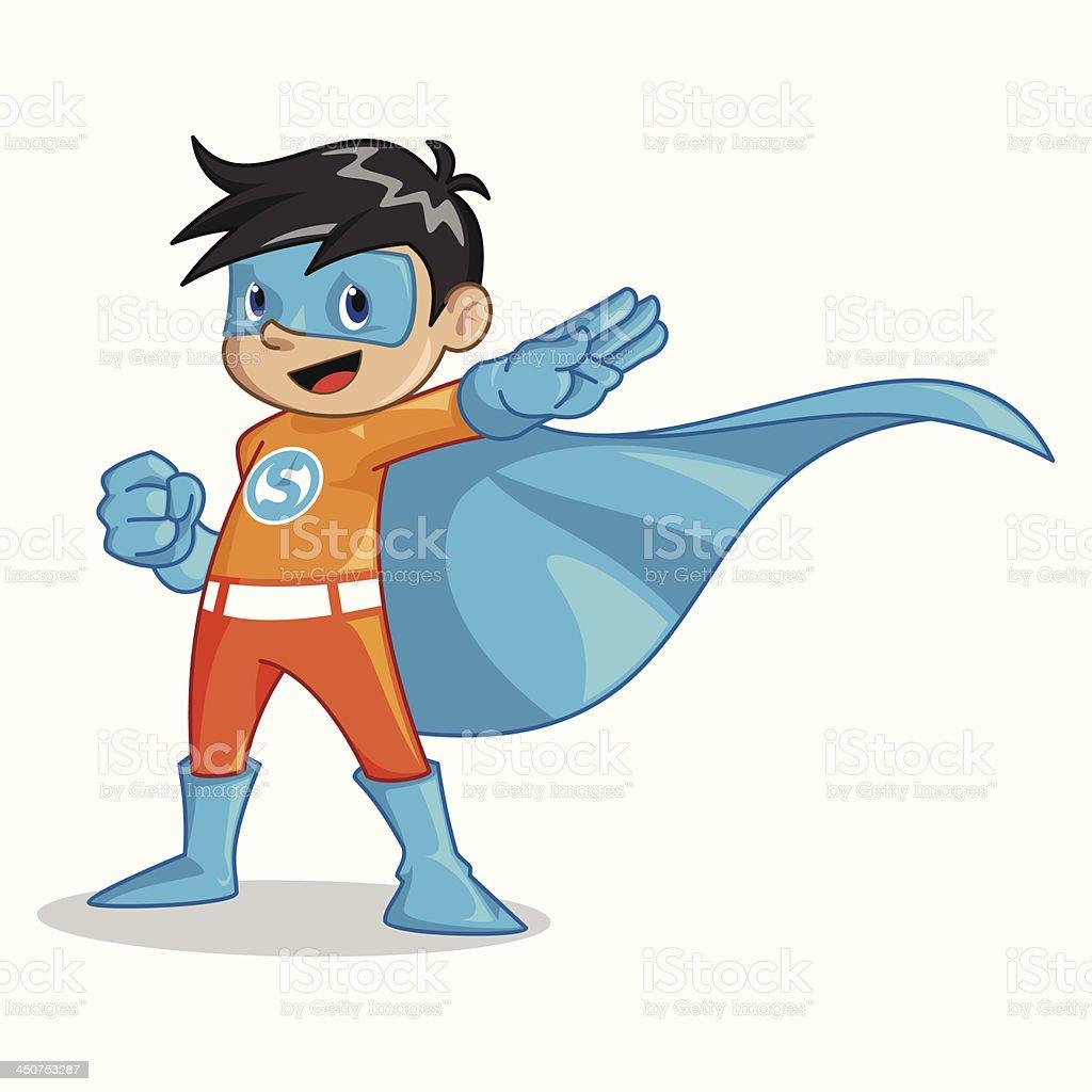 super kid vector art illustration