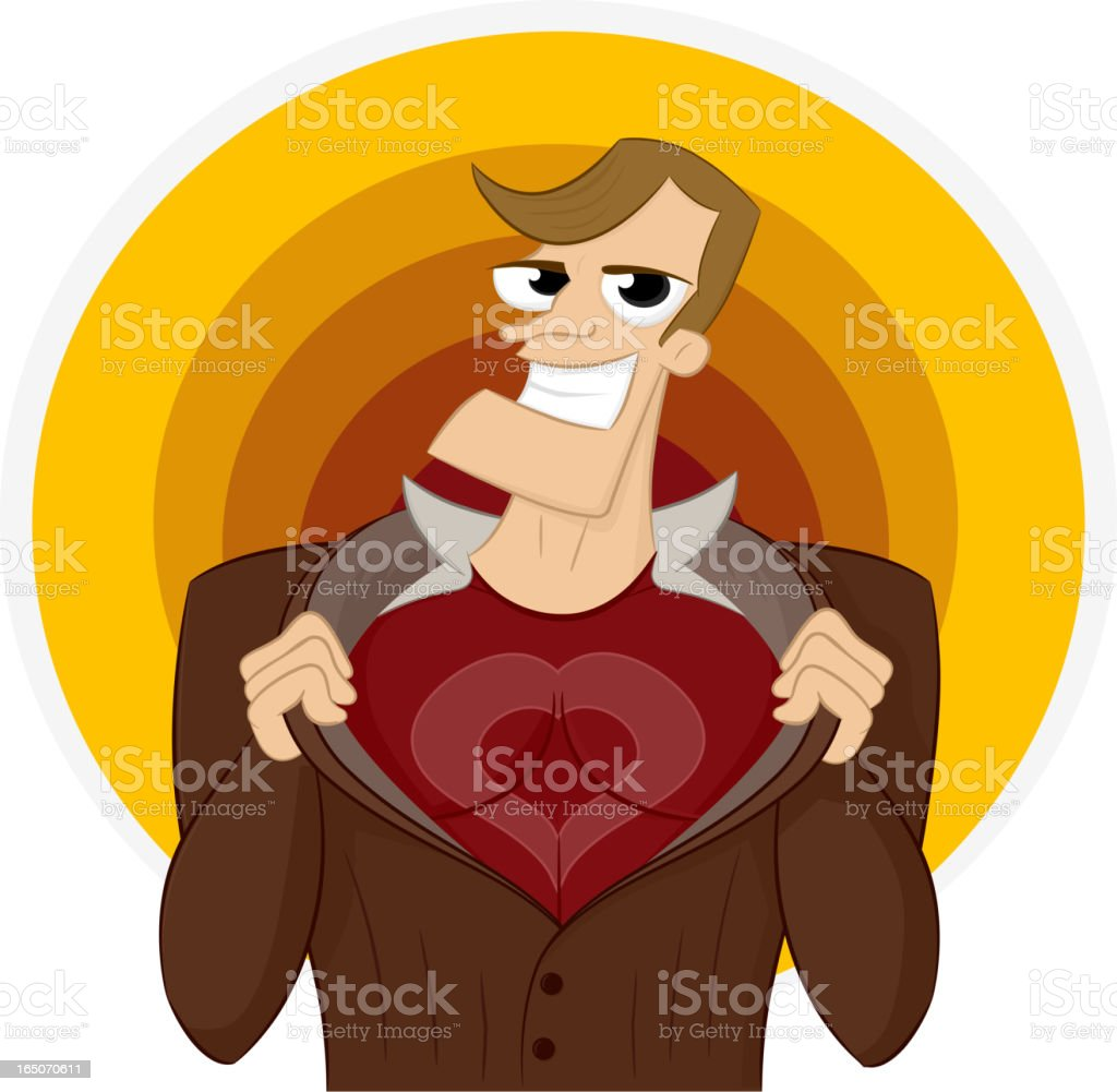Super Lover royalty-free stock vector art