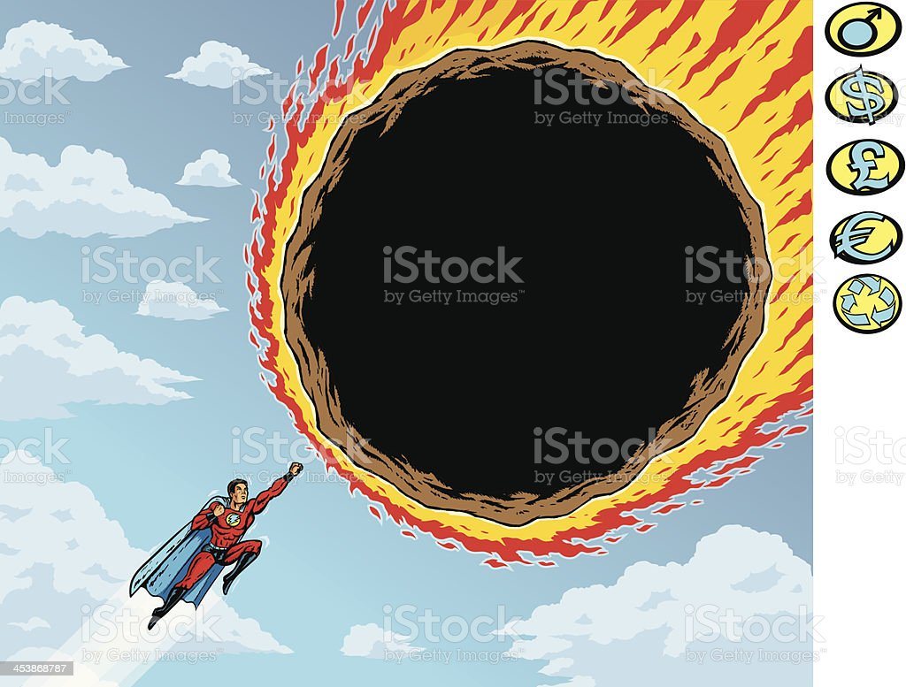 Super meteor vector art illustration