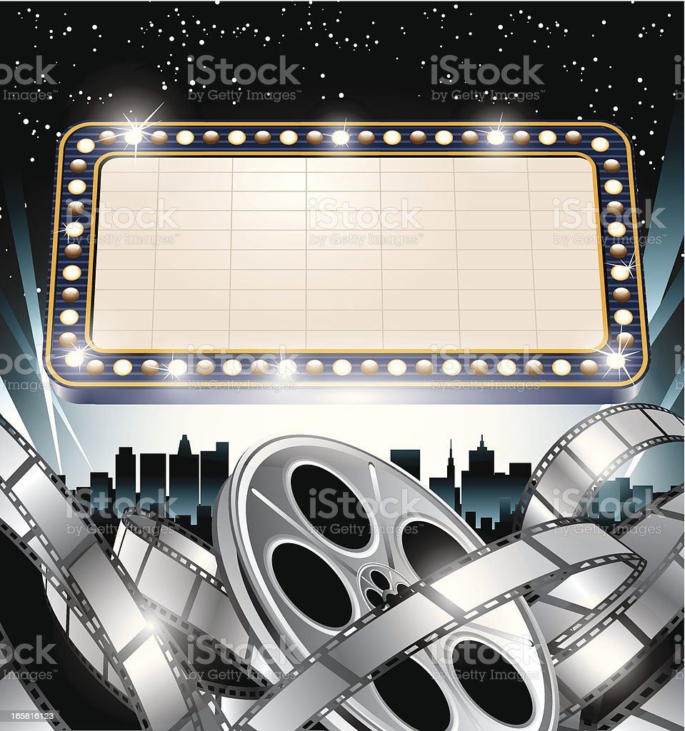 Super Movie Star Marquee Sign royalty-free stock vector art