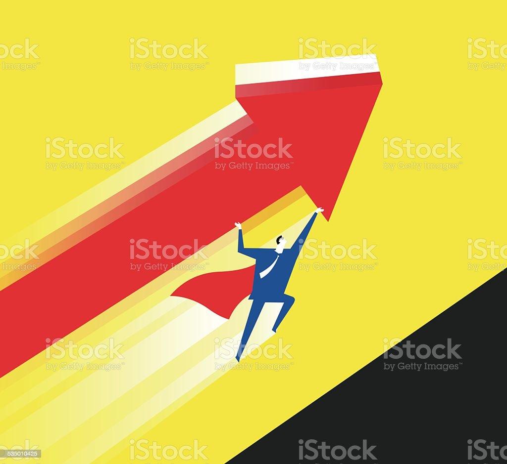 Super rescue vector art illustration