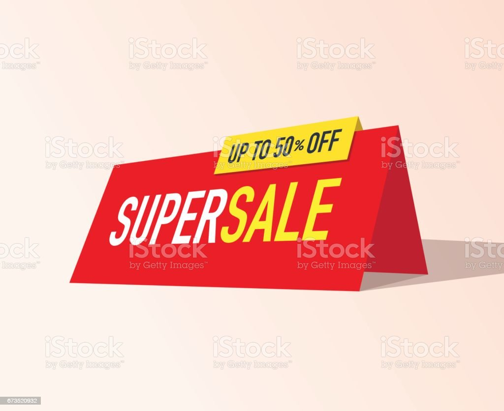Super Sale Banner vector art illustration