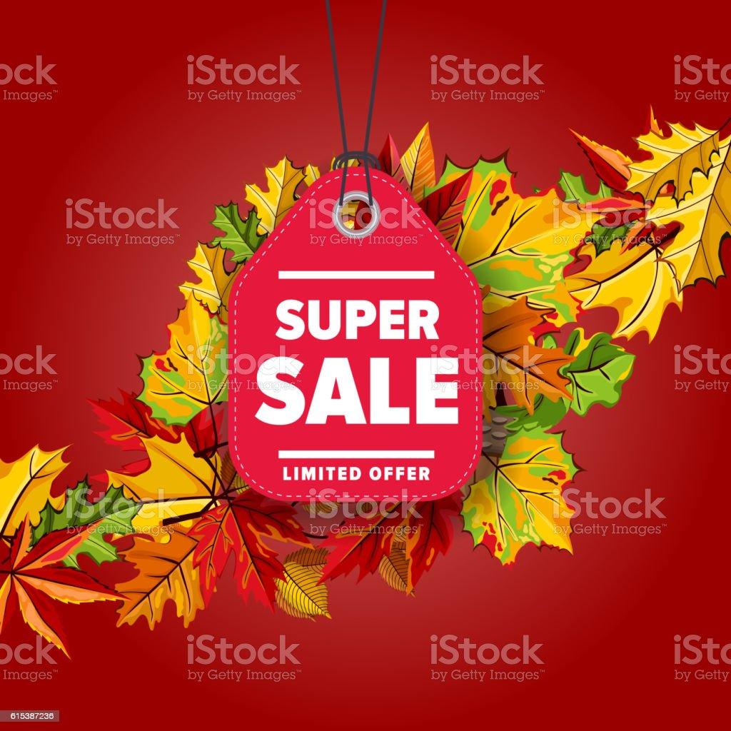 Super sale label. Limited offer. vector art illustration