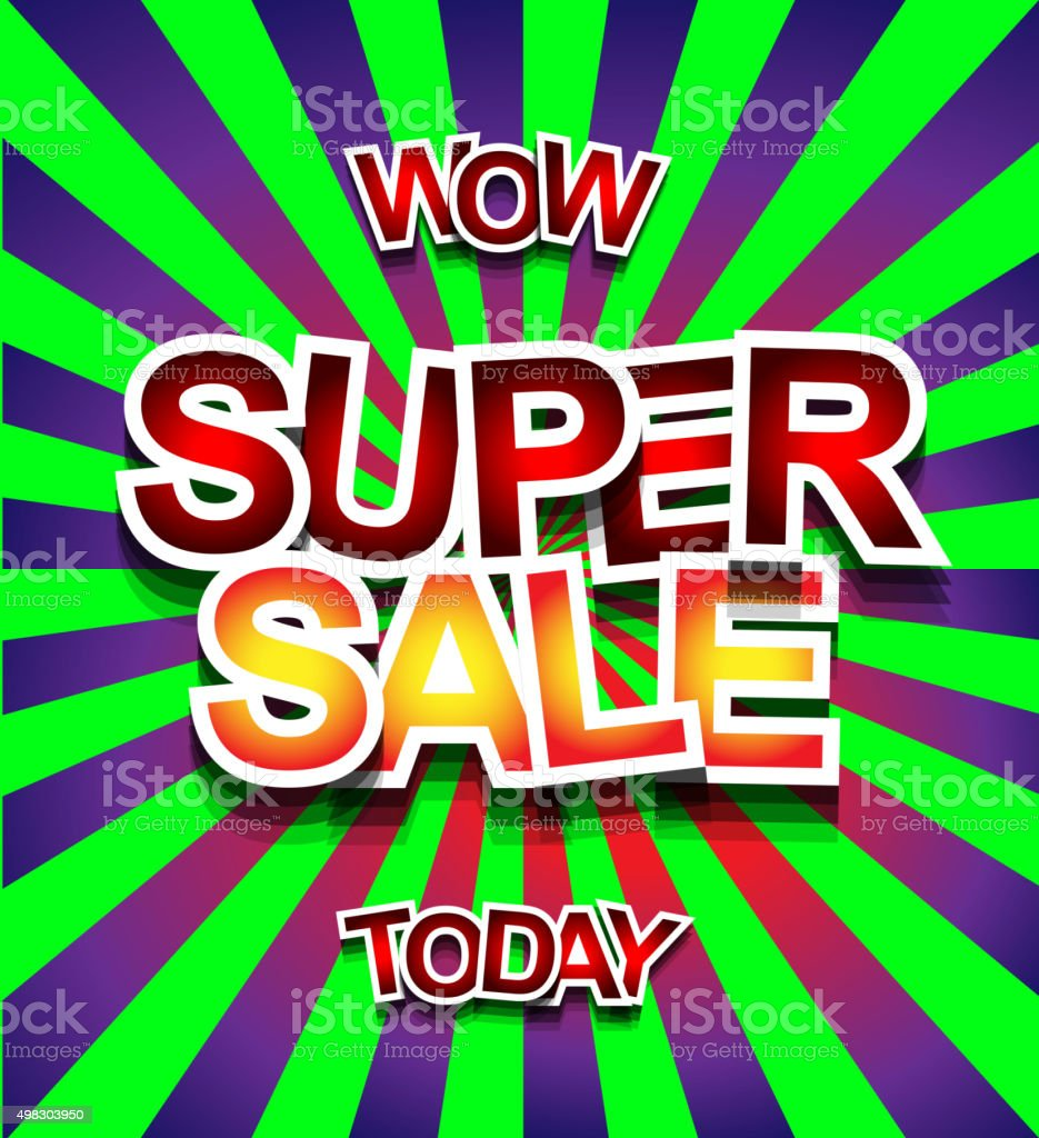Super Sale Today background for your promotional posters vector art illustration