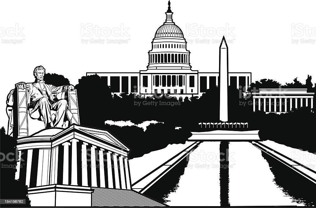 DC Super Scape vector art illustration