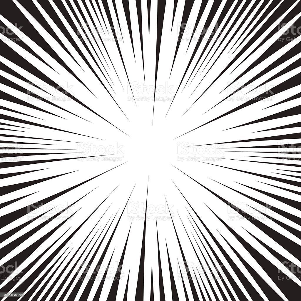 Super speed oncoming comic line background. vector art illustration