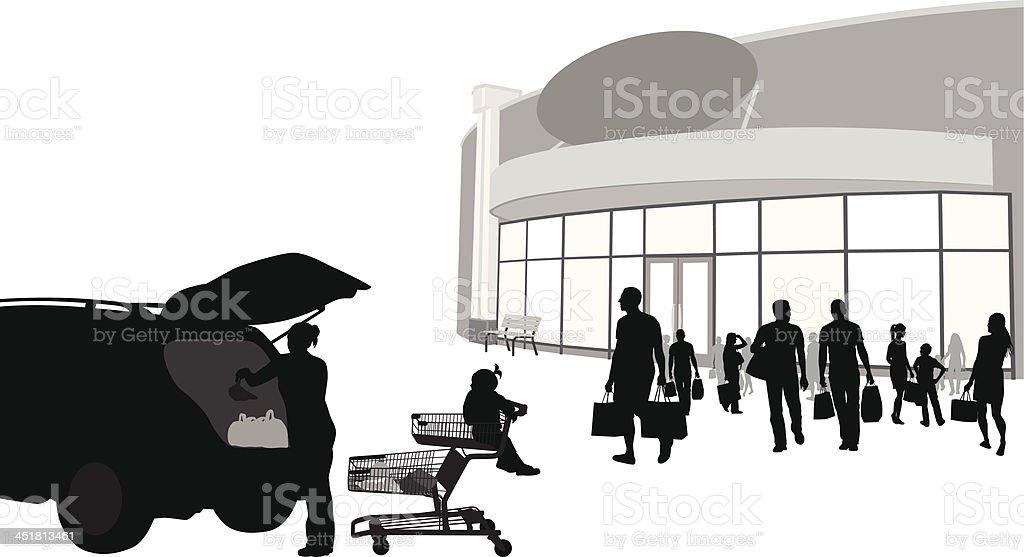 Super Store Rush royalty-free stock vector art