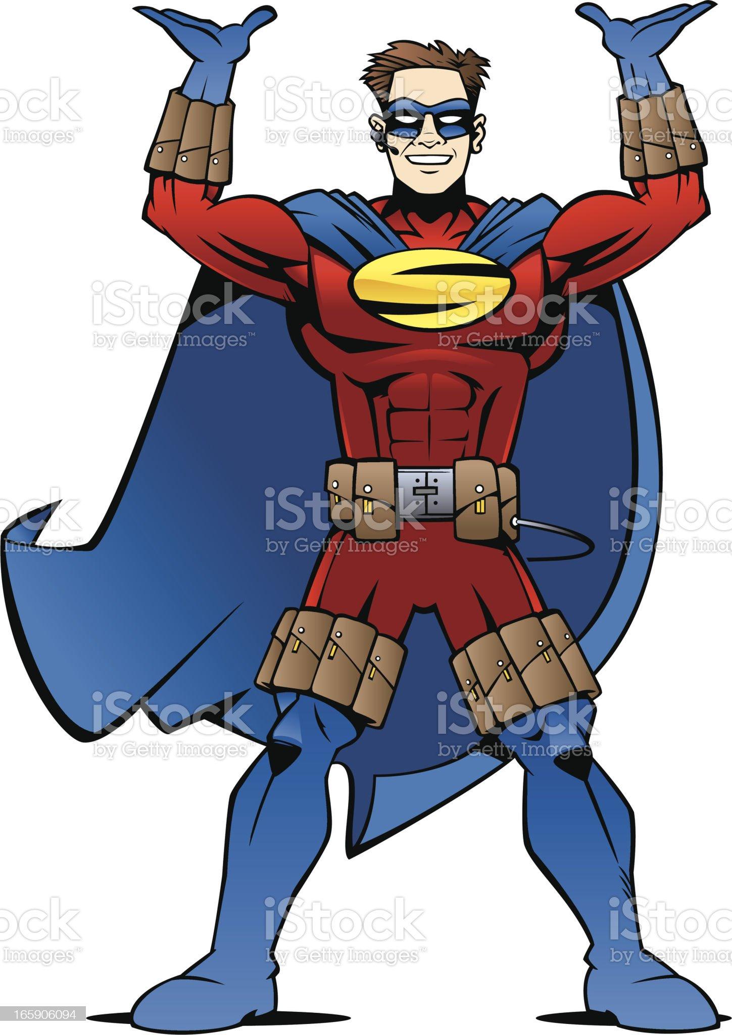 Super Tech Man! royalty-free stock vector art