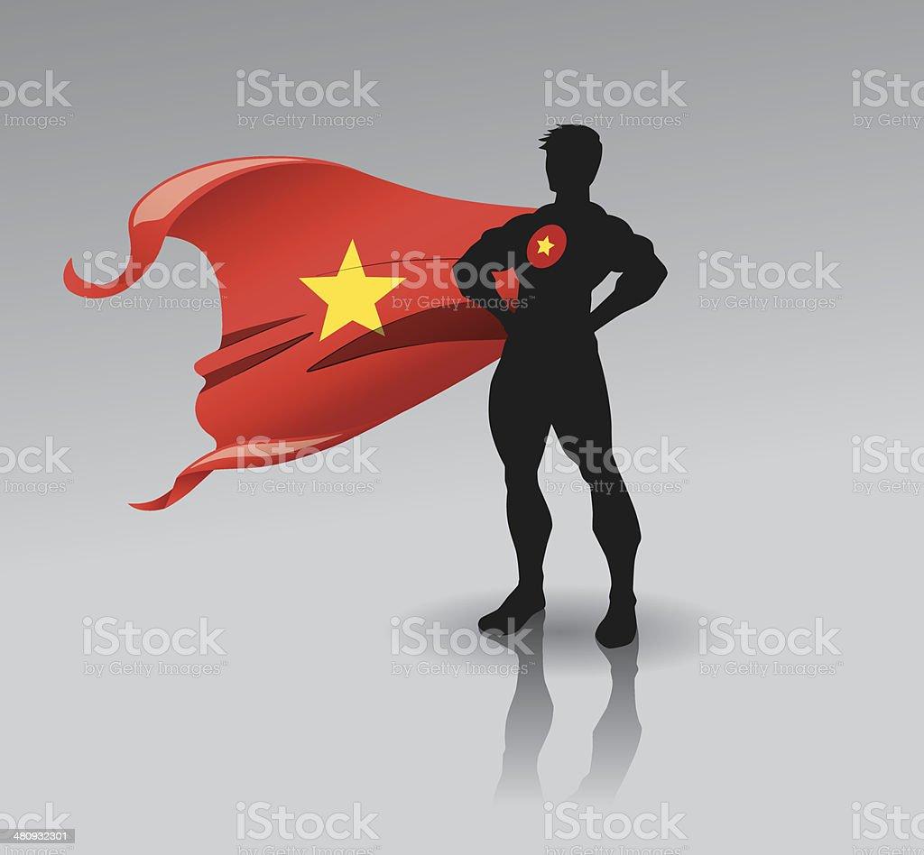 Super Vietnam Man vector art illustration