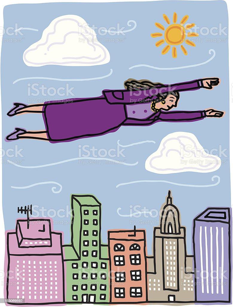 Super Woman vector art illustration