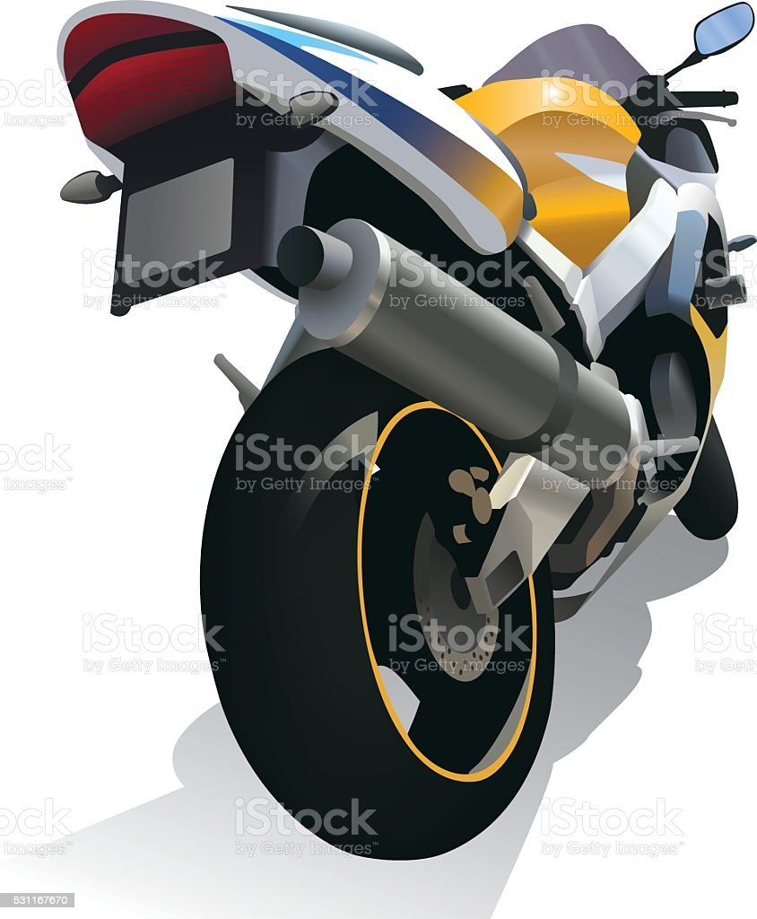 Superbike motorcycle vector art illustration