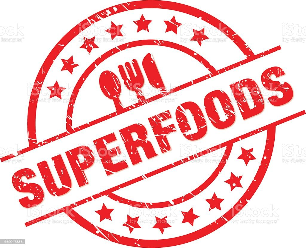 superfoods vector art illustration