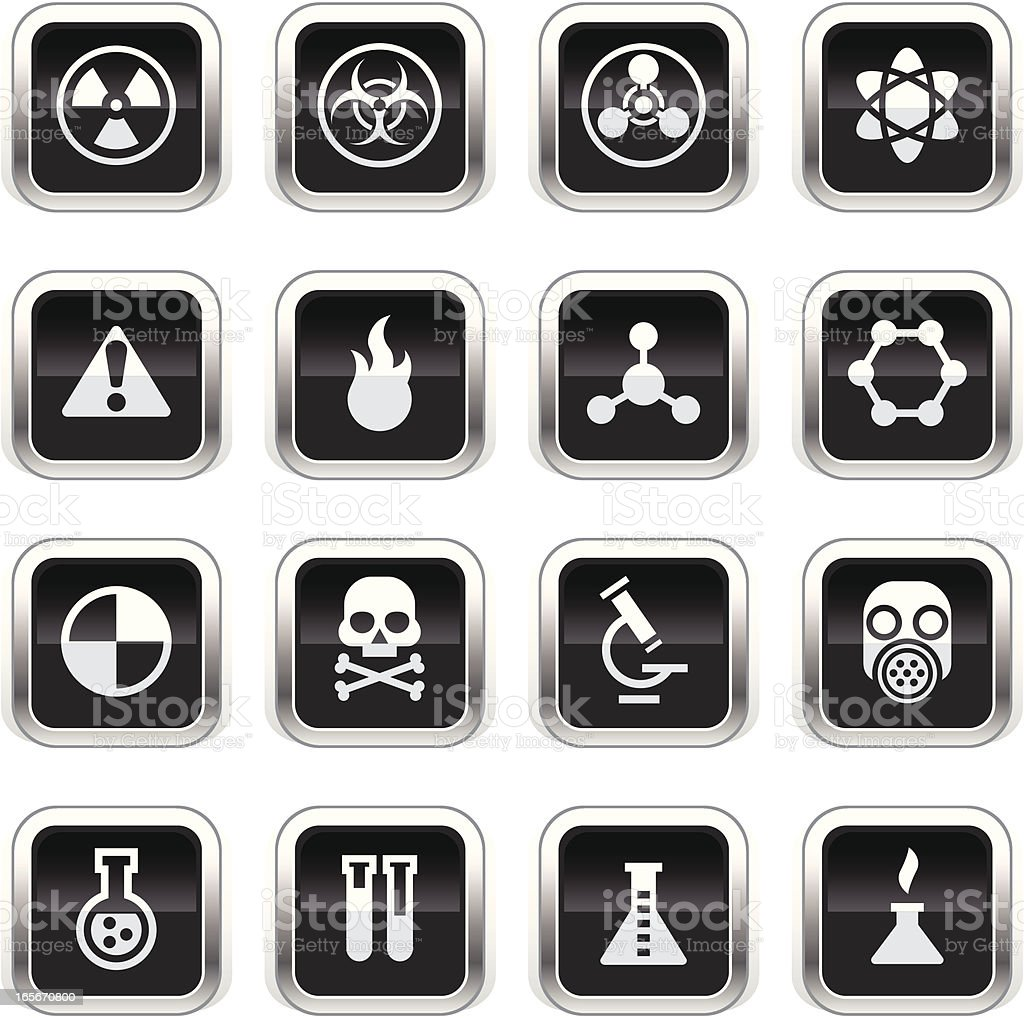 Supergloss Black Icons -  Science royalty-free stock vector art