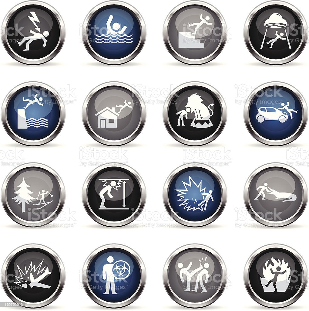 Supergloss Icons - Accidents royalty-free stock vector art