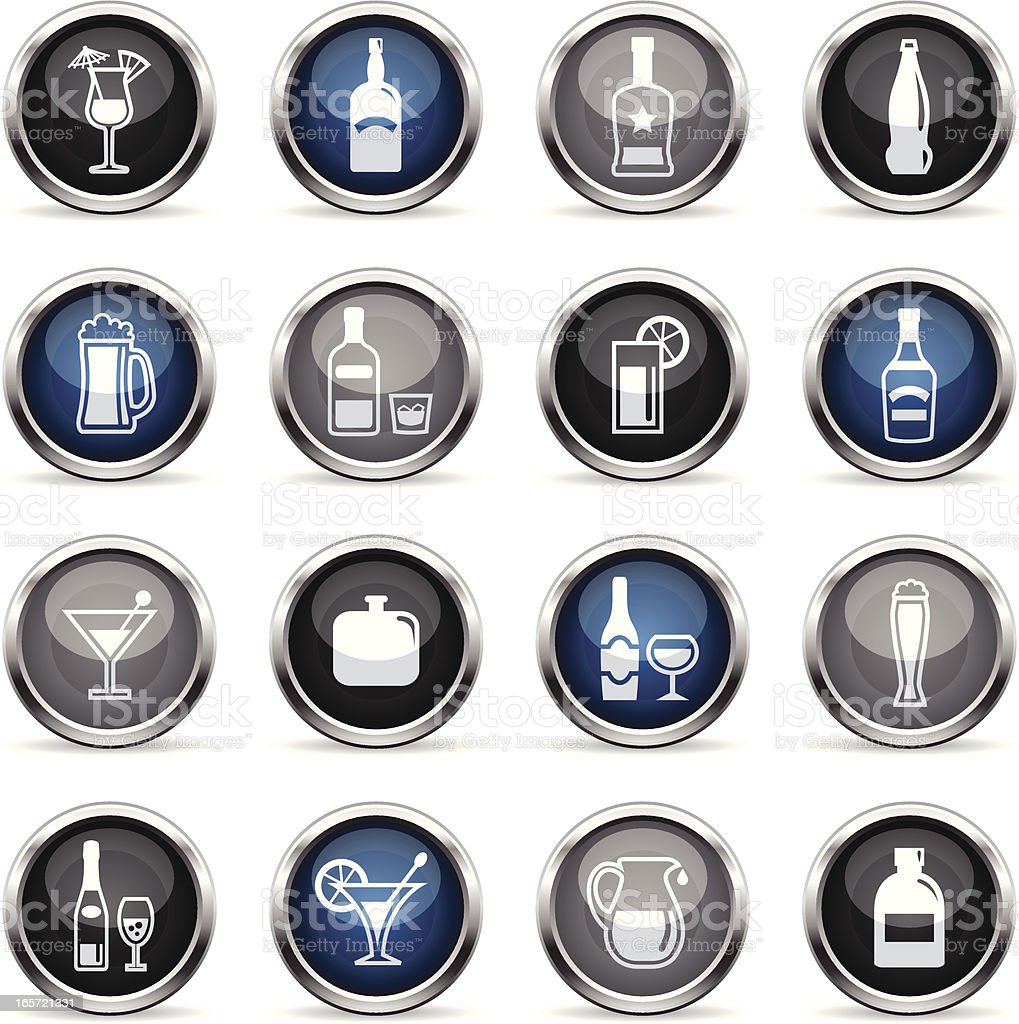 Supergloss Icons - Alcohol royalty-free stock vector art