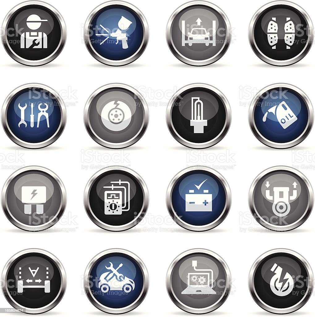 Supergloss Icons - Automobile Repair Shop royalty-free stock vector art