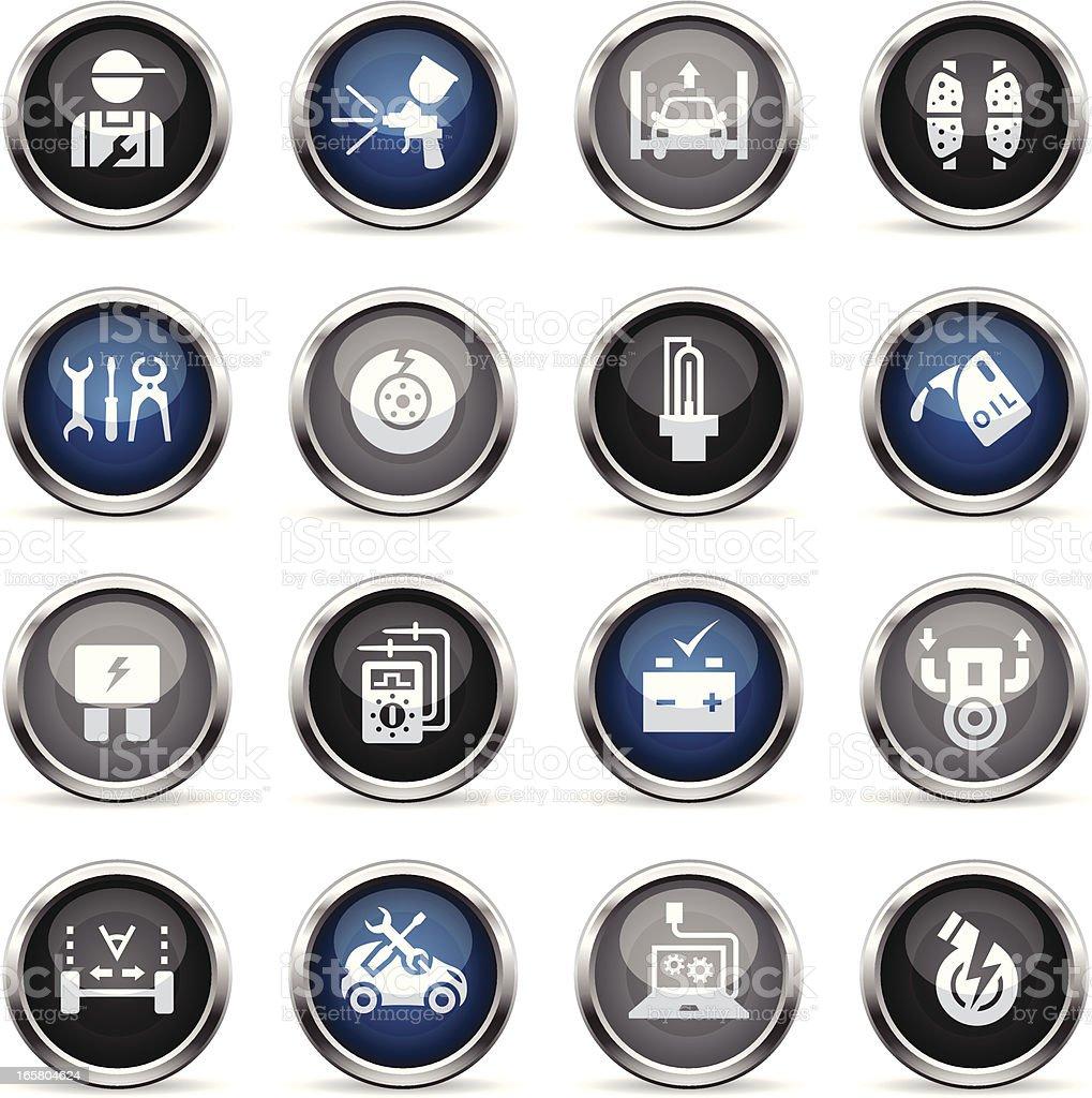 Supergloss Icons - Automobile Repair Shop vector art illustration