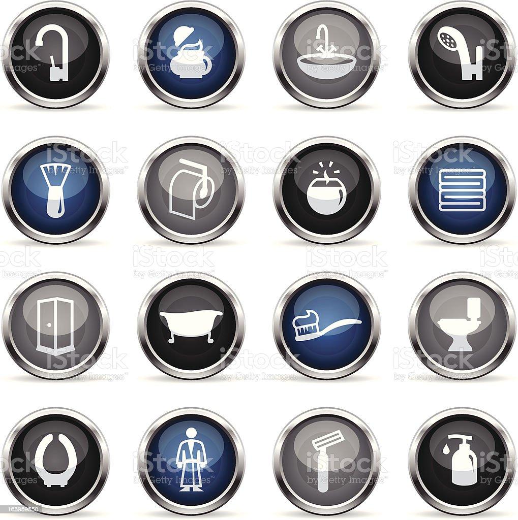 Supergloss Icons - Bathroom vector art illustration
