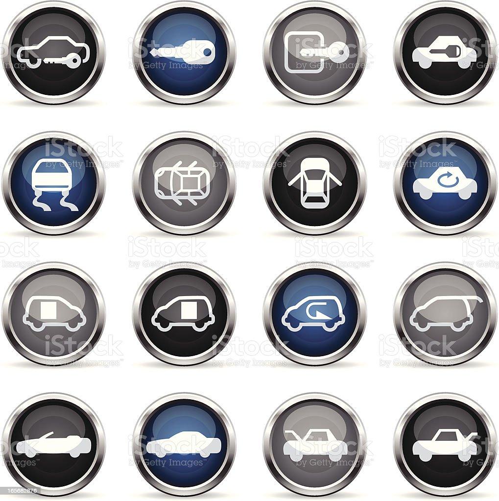 Supergloss Icons - Car Control Indicators vector art illustration