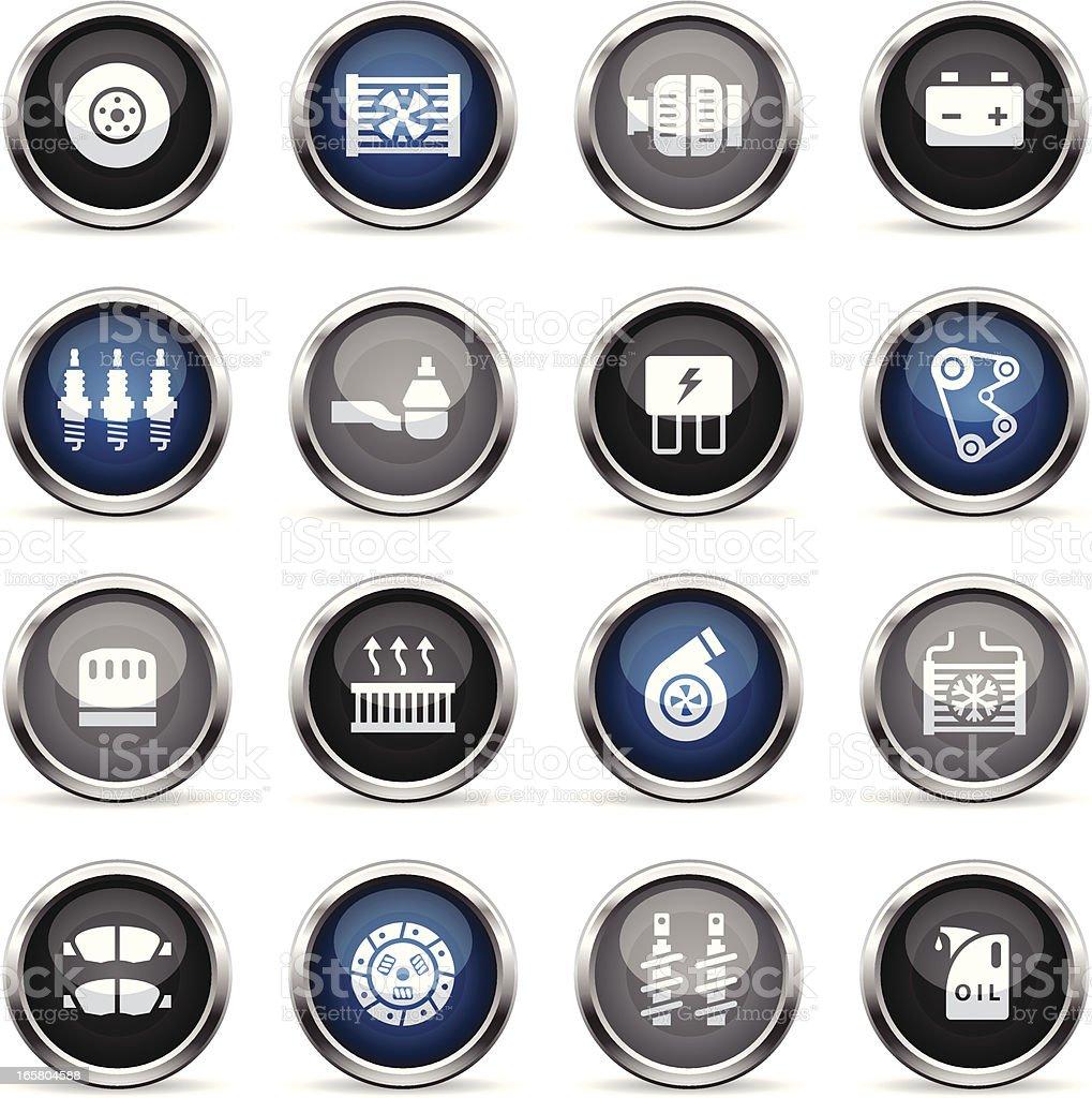 Supergloss Icons - Car Maintenance vector art illustration