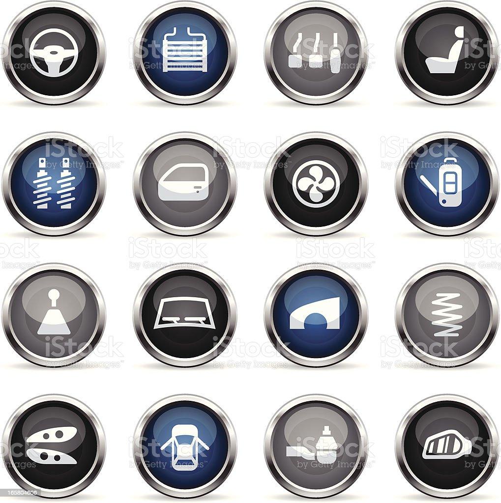 Supergloss Icons - Car Parts vector art illustration