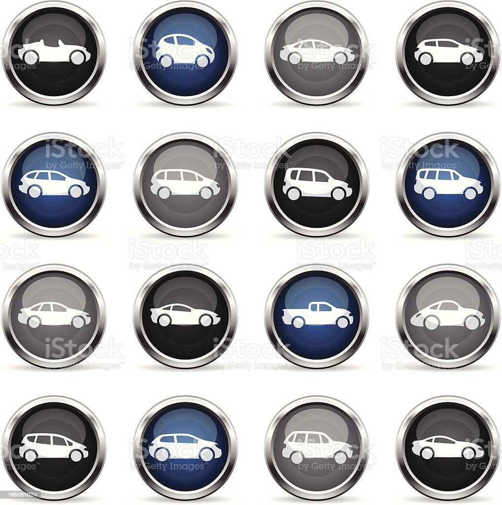 Supergloss Icons - Cars vector art illustration