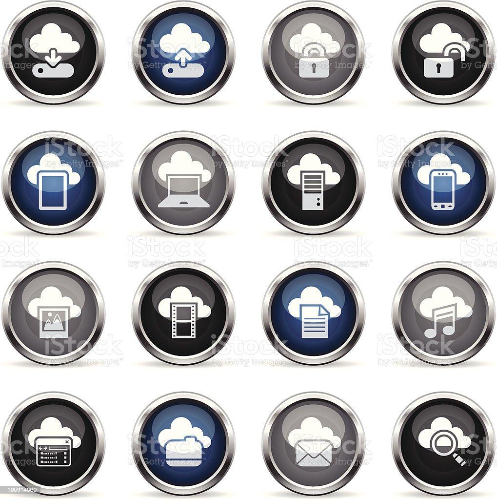 Supergloss Icons - Cloud Computing royalty-free stock vector art