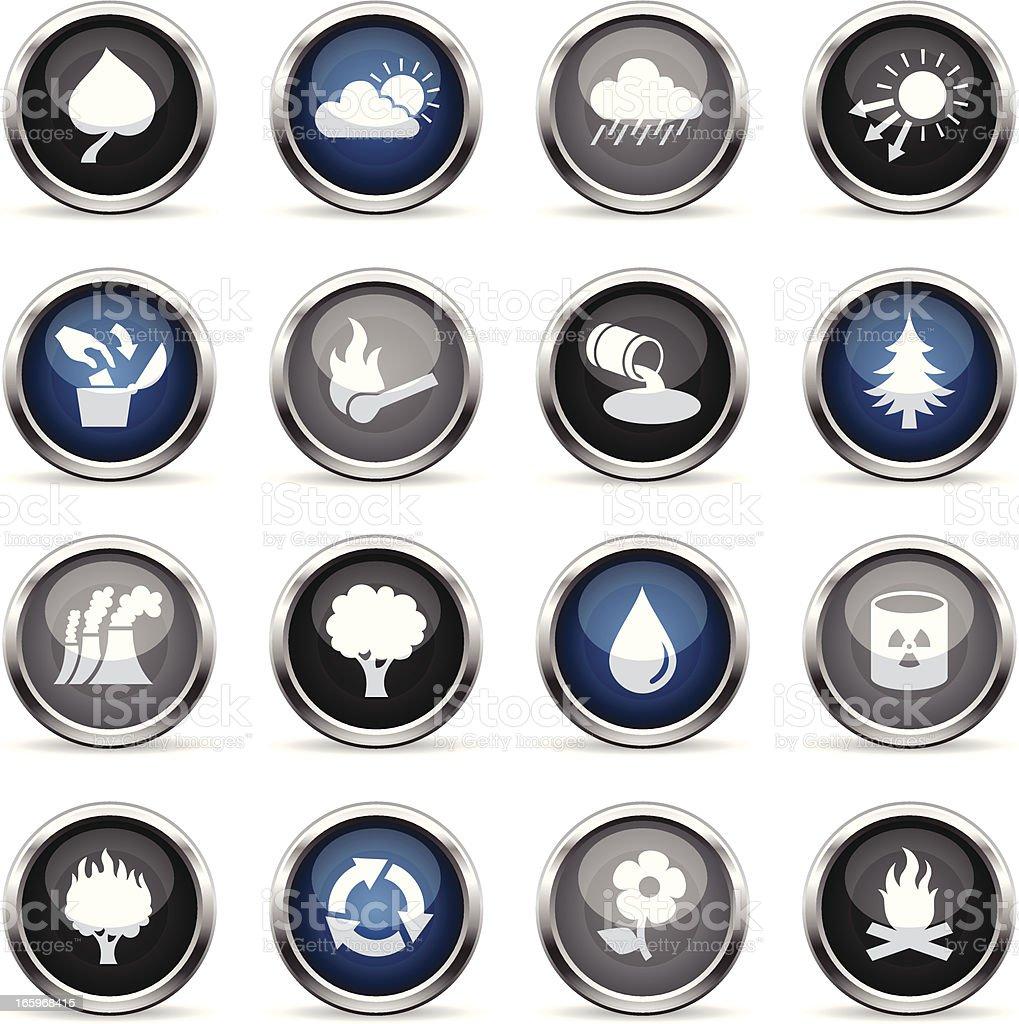 Supergloss Icons - Eco royalty-free stock vector art