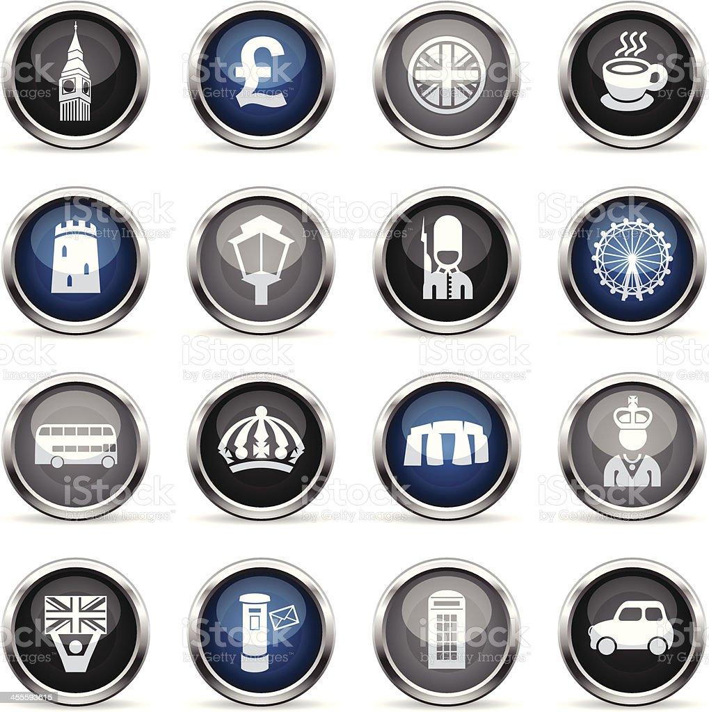 Supergloss Icons - England royalty-free stock vector art