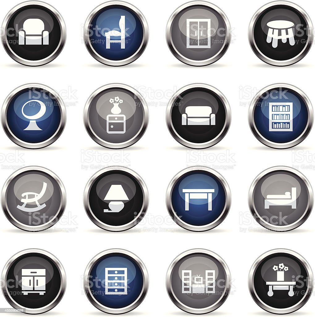 Supergloss Icons - Furniture royalty-free stock vector art
