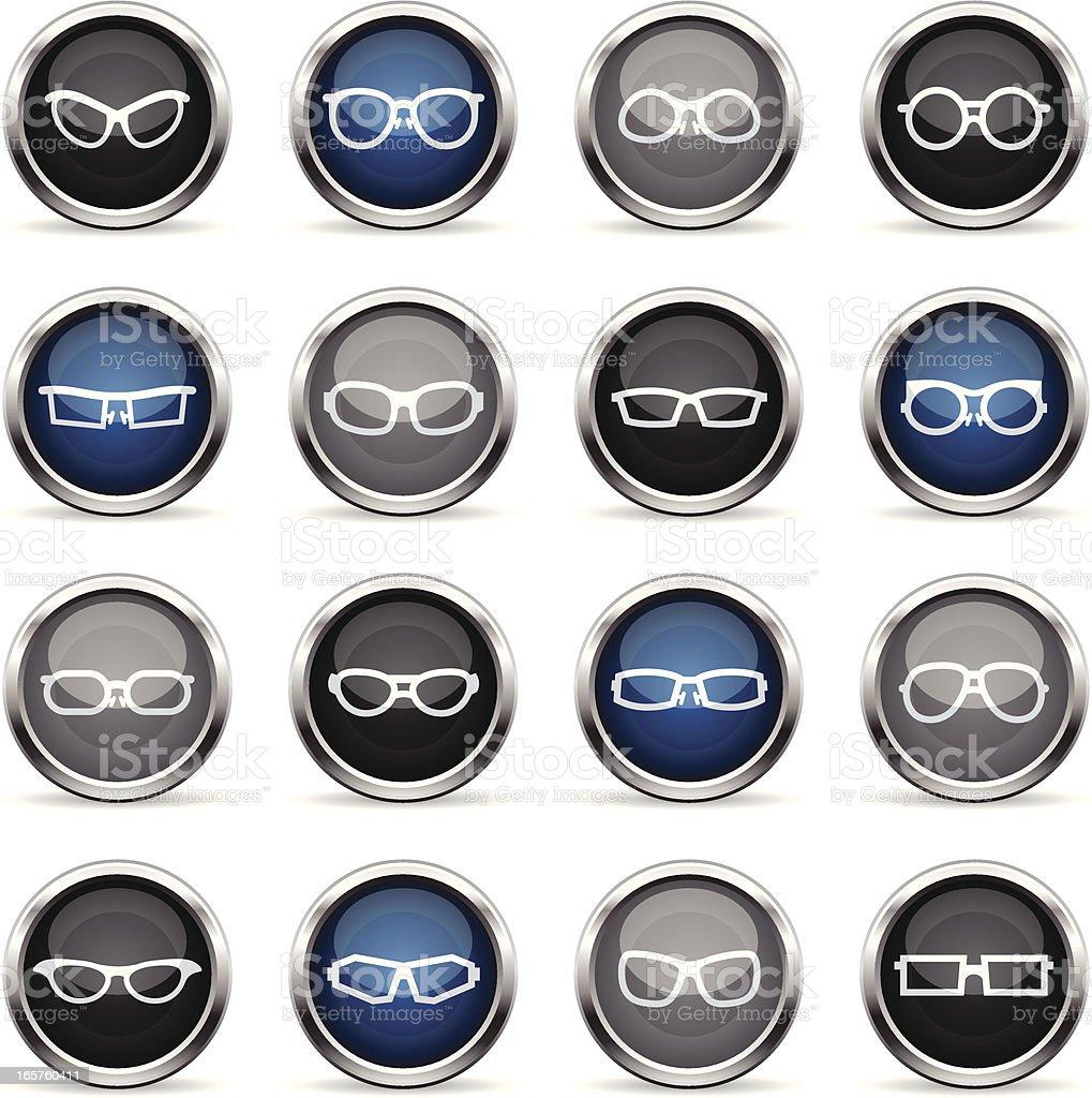 Supergloss Icons - Glasses vector art illustration