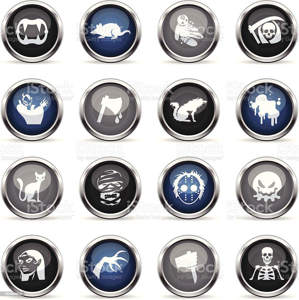 Supergloss Icons - Horror royalty-free stock vector art