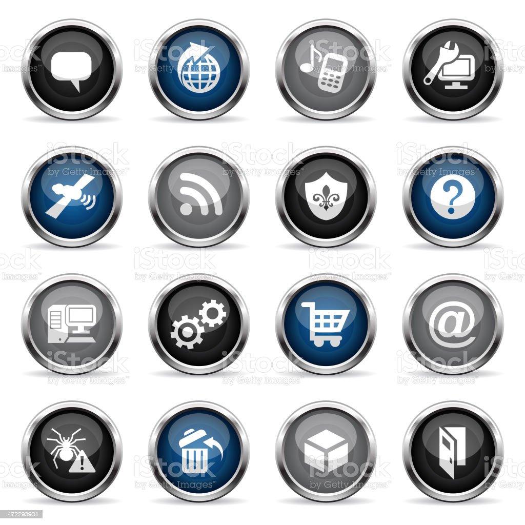 Supergloss Icons - Internet royalty-free stock vector art