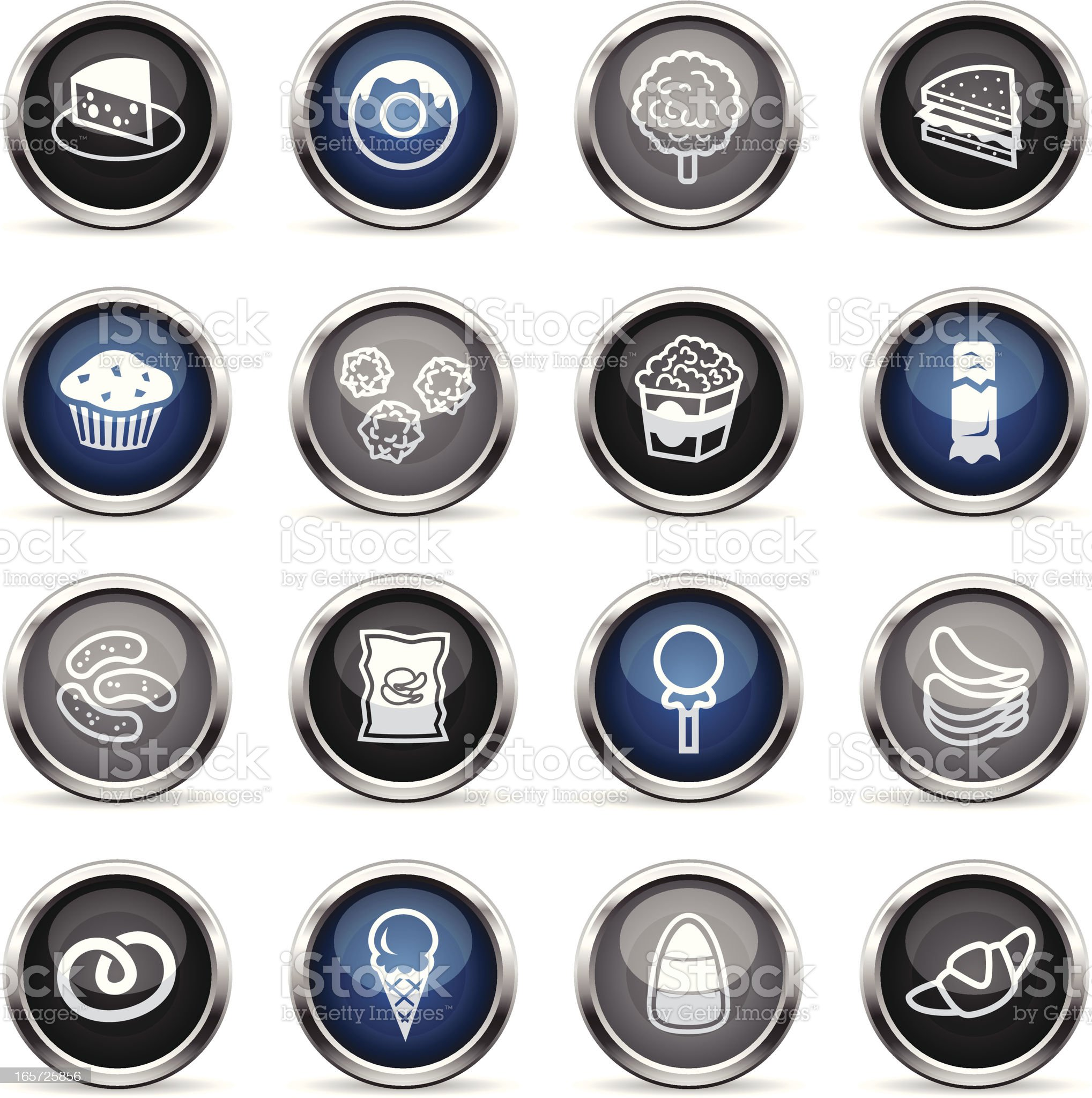 Supergloss Icons - Junk Food royalty-free stock vector art