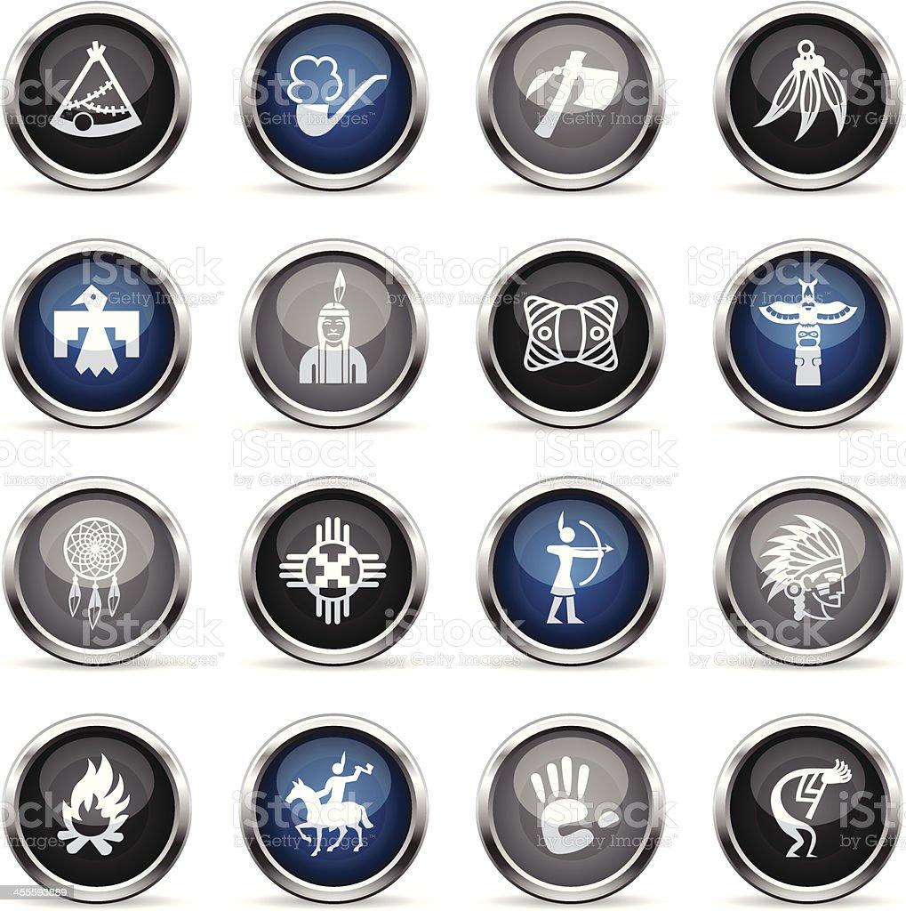 Supergloss Icons - Native American royalty-free stock vector art