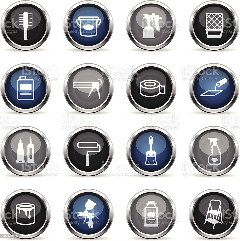 Supergloss Icons - Painting Tools royalty-free stock vector art