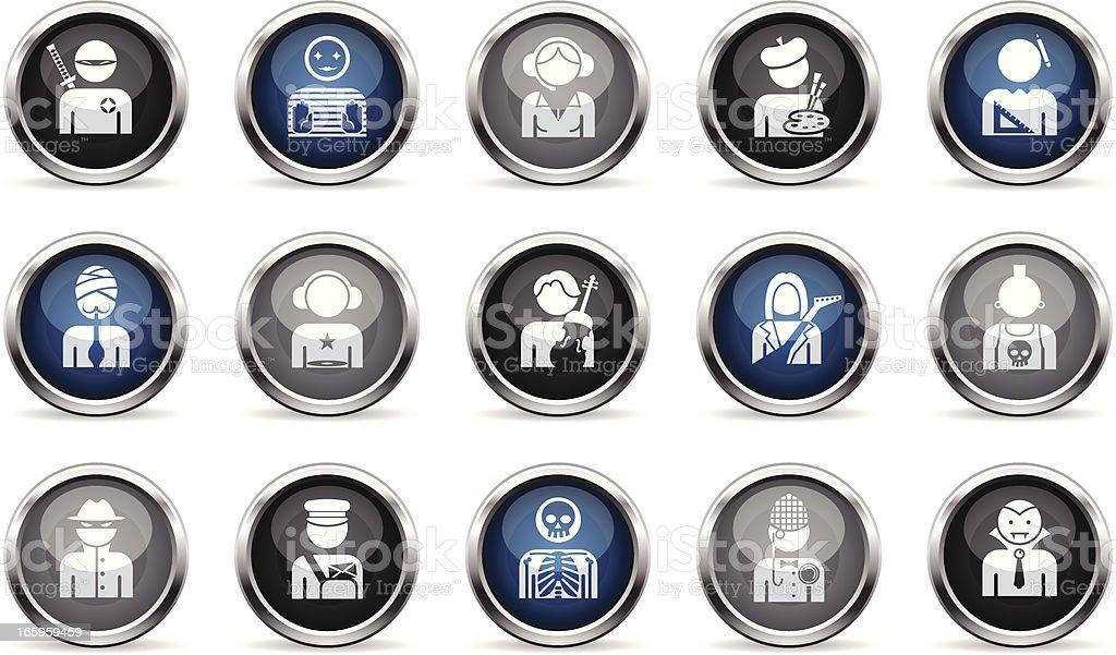 Supergloss Icons - Professions vector art illustration
