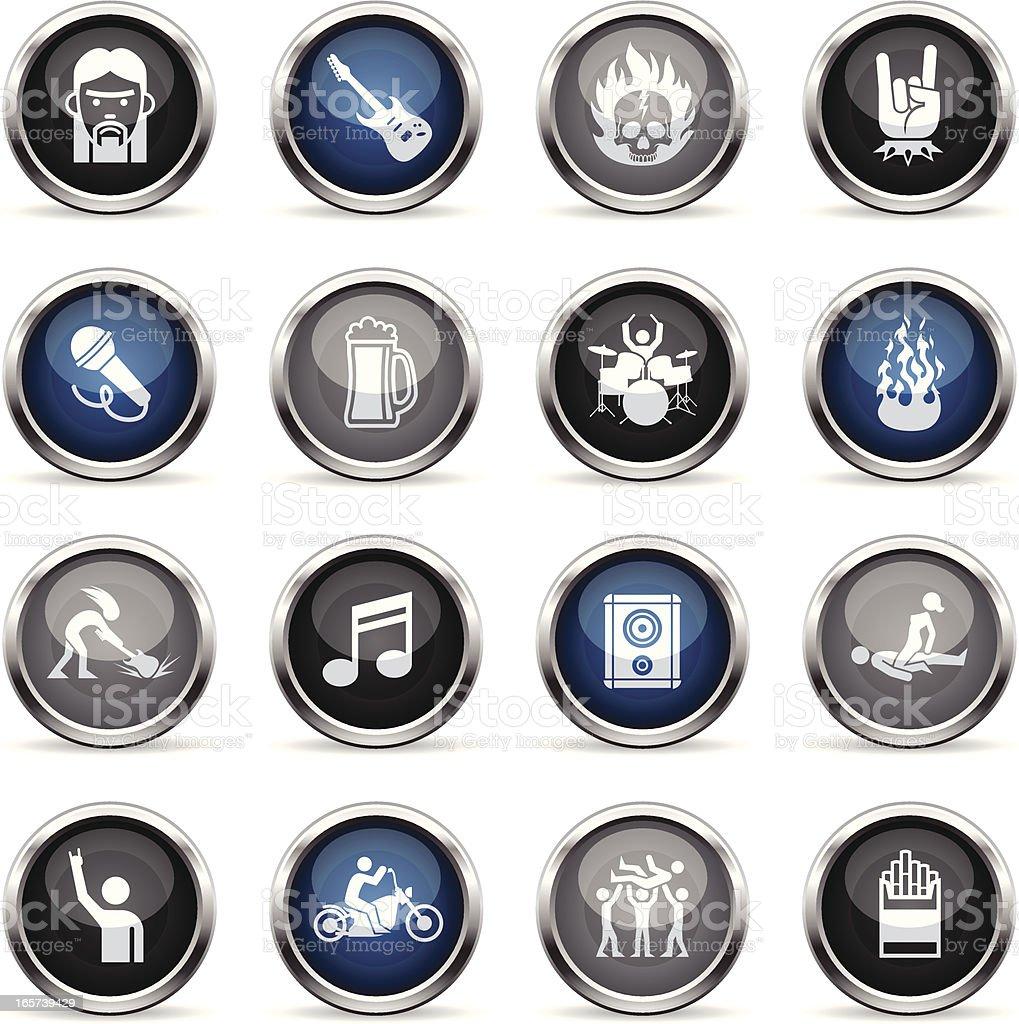 Supergloss Icons - Rock Star royalty-free stock vector art