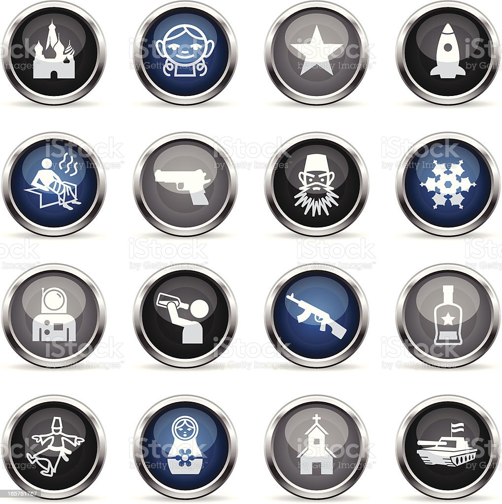 Supergloss Icons - Russia vector art illustration