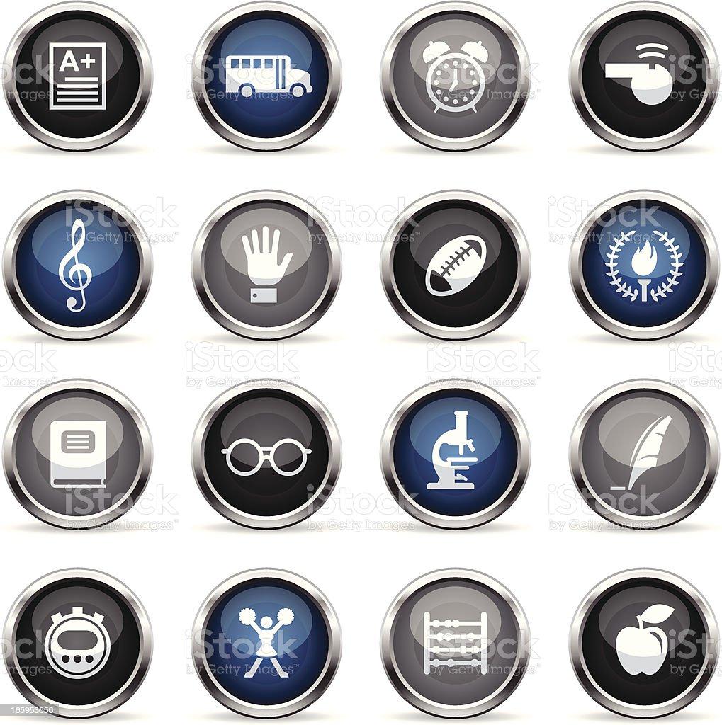 Supergloss Icons - School royalty-free stock vector art